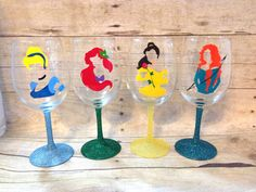 Disney Finds - Handmade Disney Wine Glasses