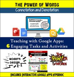 Explore the power of words while educating, engaging, and inspiring your students with this high-interest, interactive Connotation and Denotation Hyperdoc! Includes 16 modern Google Slides, Interactive Drag-and-Drop Google Drawing Activity, High-Interest Rap Word Choice Music Video, and More!