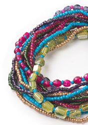 Hippy Bracelet~Ethnic Andaman Multicolour Glass Bead Bracelet~Fair Trade by Folio Gothic Hippy~BR449