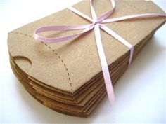 Kraft Gift Boxes Set of 12 Kraft Pillow Box by KidsAtHeartDesigns, $5.00