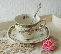 Vintage Art Deco China Teacup and Saucer C1930 by VerasTreasures, £15.00