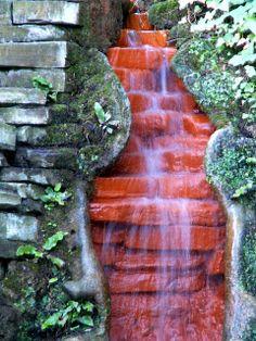 Chalice Well Gardens: Falls Closeup in King Arthur's Courtyard by phoenixspringwater, via Flickr