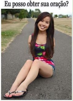 Asian babe road believe