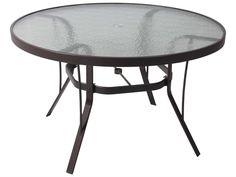 36 Round Glass Top Patio Table