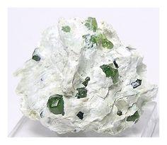 Mint Green Demantoid Garnet Crystals in Matrix Quebec Mineral Specimen Genuine Gemstone Crystals