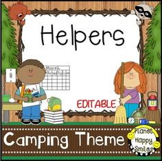 This is a set of 66 classroom jobs plus table captains in a Camping theme that you can use in your classroom. There is a header that you can put above the cards. You can decide which jobs that you use in your class. They can be stapled to a bulletin board or used in a pocket chart.