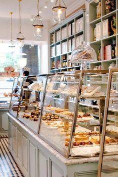 Sebastien gaudard room design in 2019 bakery, bakery interior, cake shop. Cake Shop Design, Bakery Design, Shop Front Design, Bakery Interior, Cafe Interior Design, Cafe Design, Pastry Shop Interior, Design Design, Bakery Store