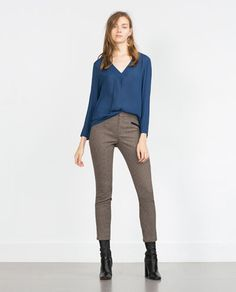 ZARA - WOMAN - CHECK TROUSERS