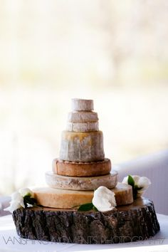 Cheese wedding cake- yum!