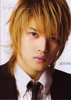 Kim Jae Joong Hairstyles brown hairstyle- Asian guys have such cute hairstyles! I want this cut!