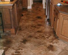 designs in stained concrete floors - Google Search