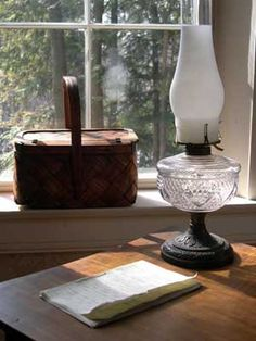 EDSITEment celebrates the life and work of American poet Emily Dickinson, including her talents as baker and gardener. Emily Dickinson, Cottage In The Woods, Farm Cottage, Cottage Style, American Poets, Through The Window, Second Story, Writing Desk, Oil Lamps