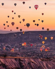 Hot air balloons flying over Cappadocia -Turkey // Photography by _ K T I A c ., Travel the world, Landscape Photography, Nature Photography, Travel Photography, Photography Training, Stunning Photography, Cappadocia Turkey, Cappadocia Balloon, Travel Wallpaper, Wallpaper Desktop