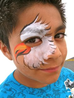 Face painting by Fairy Fun Faces! Paula Taylor artist 801-292-8364: Boy oh boy! Bear Face Paint, Face Painting For Boys, Face Painting Designs, Body Painting, Paint Designs, Eagle Face, Bald Eagle, Boy Face, Animal Faces