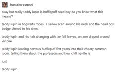 Teddy Lupin                                                                                                                                                     More