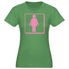 """""""AKA Only"""" pink and green tee"""