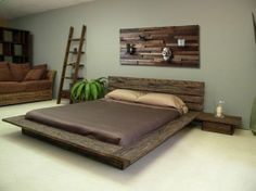 Barnwood bed