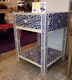 Love the way, The colors play,  In these accent tables at... BOJAY!  #HATtag #ATLmkt