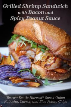 GRILLED SHRIMP SANDWICH | with Hickory-Smoked Bacon and Spicy Peanut ...