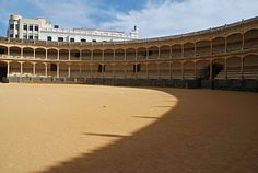 The bull ring in Ronda.  We watched a bullfight on TV when we were in Madrid - I never knew how graphic they were!!