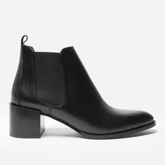 A step up. This Italian-made leather boot has a custom-designed 2-inch heel. It elevates any outfit—literally.