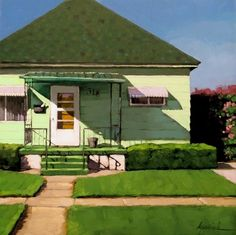 "Aside from the grass roof, this looks exactly like the house I grew up in in NYC (Staten Island)! ""Fifty Shades of Green"" by Karin Jurick"