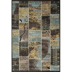 Momeni Vogue Boxes Area Rug, Blue