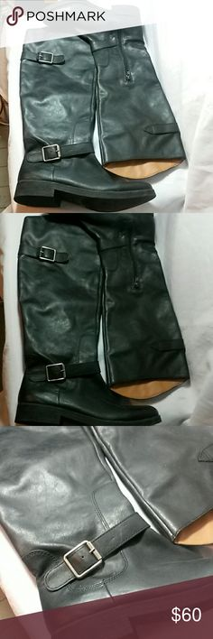 EUC LUCKY BRAND KNEE HIGH BOOTS SIZE 9 Euc.  Still has sticker on bottom of the boot. My calfs are too fat😢 Lucky Brand Shoes Heeled Boots