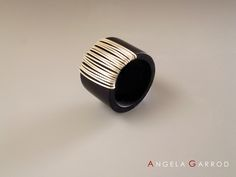 """"""" Ring 6 """" Polymer and Silver Angela Garrod Fimo Ring, Polymer Clay Ring, Porcelain Jewelry, Ceramic Jewelry, Jewelry Art, Jewelry Design, Jewellery, Diy Rings, Clay Earrings"""