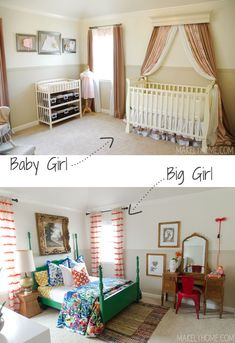 Little girl's bold and eclectic bedroom