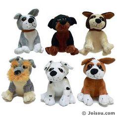 Plush Sitting Big Eyed Dogs