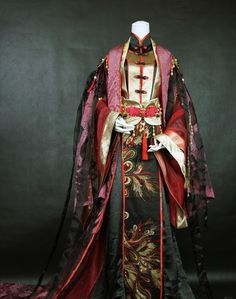 Chinese dress - Hanfu: the Chinese outfits are similar to the kimono design Hanfu, Cheongsam, Traditional Fashion, Traditional Dresses, Chinese Clothing Traditional, Traditional Kimono, Historical Costume, Historical Clothing, Costume Chinoise