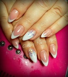 Beautiful wedding nails, Delicate wedding nails, Nails for wedding dress…