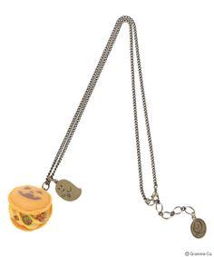 Jack-o'-lantern Macaron Necklace