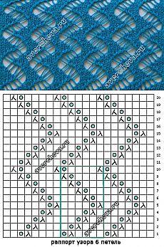 узор 468 очень ажурный | каталог вязаных спицами узоров