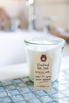 Handcrafted Woodland Bath Salts – Bowl & Pitcher