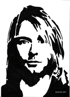 Kurt Cobain self portrate by RogerMV