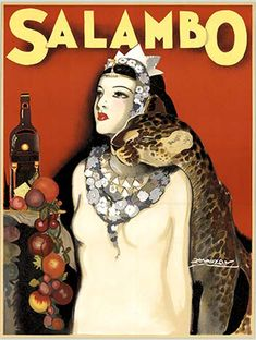 Salambo by Achille Mauzan on Curiator, the world's biggest collaborative art collection. Party Rock, Retro Poster, Poster S, Retro Advertising, Vintage Advertisements, Vintage Labels, Vintage Ads, Vintage Prints, Rachel Brice