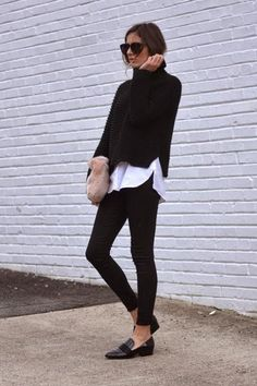 Exactly how to wear a turtleneck sweater this fall - click for 15 street style outfits we love #exactly