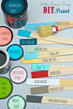 DIY paint chalk and clay based, 9 ingredients plus love!