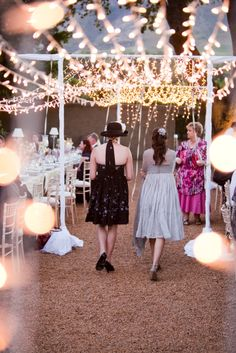 Wedding Concepts | Something Different | Fairy Light Canopy