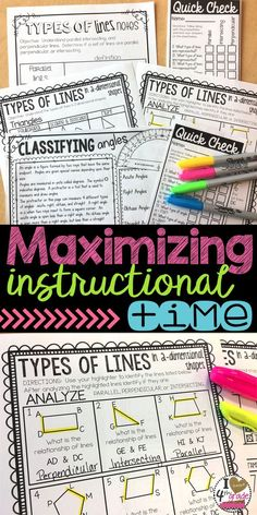 Maximizing Instructional Time   Lesson Plans   4th grade math   Geometry Lessons   4th grade lessons   Wanting to maximize instructional time to fit in standards?  Read how I maximize my lesson instructional time.