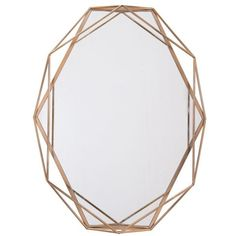 Whitford Octagonal Accent Mirror (110 AUD) ❤ liked on Polyvore featuring home, home decor, mirrors and octagon mirror