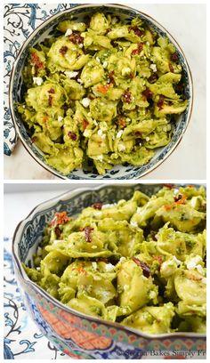 Tortellini Pesto Pasta Salad for #SundaySupper