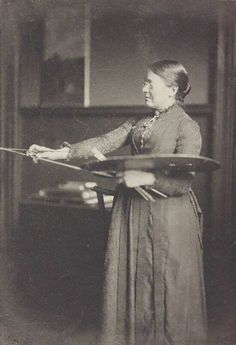 Anna Lea Merritt, artist, 1886. Photograph by Frederick Hollyer (English, 1838-1933). V The artists that Hollyer photographed were a diverse group encompassing the Arts and Crafts Movement, Pre-Raphaelitism, Aestheticism, Impressionism and the Royal Academy. Sitters appear and re-appear in a variety of sittings and costumes, which suggests that Hollyer was shaping their public image.