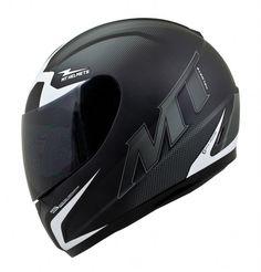 MT Thunder Squad Motorcycle Helmet Matt Black White motorbike Crash Lid Scooter | eBay