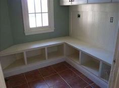 low storage with bench-- not in a corner