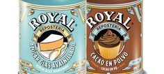 Royal lança cacau magro em pó e açúcar baunilhado glacé