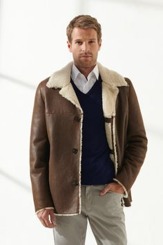 DENNIS Men Casual Tan&OFF-White Shearling Jacket Black Noble   Luxury Shearling Black Shearling Jacket, Shearling Coat, Off White, Men Sweater, Men Casual, Pure Products, Luxury, Model, Jackets