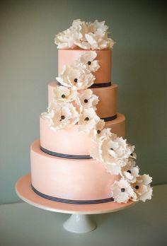 salmon pink cake